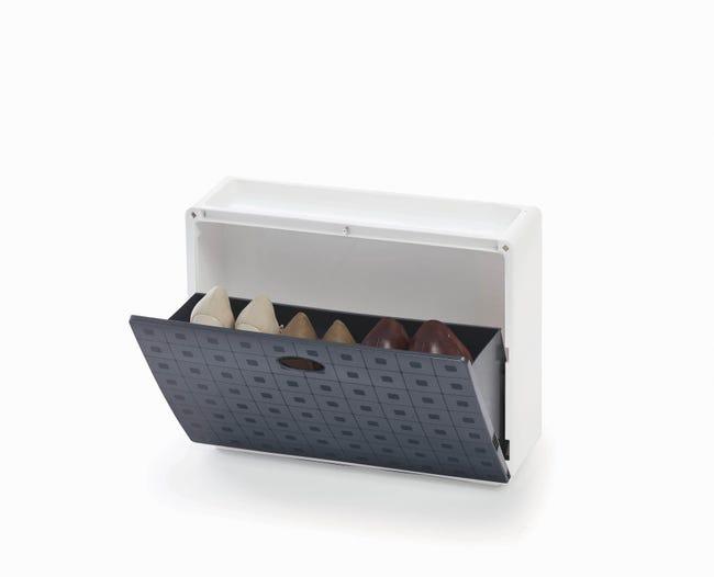 Scarpiera Basic L 51 x H 40 x Sp 17 cm grigio - 1