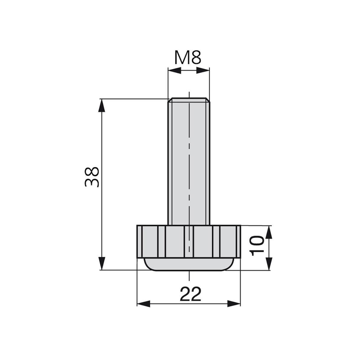 Cilindro di regolazione Ø 22 mm - 2