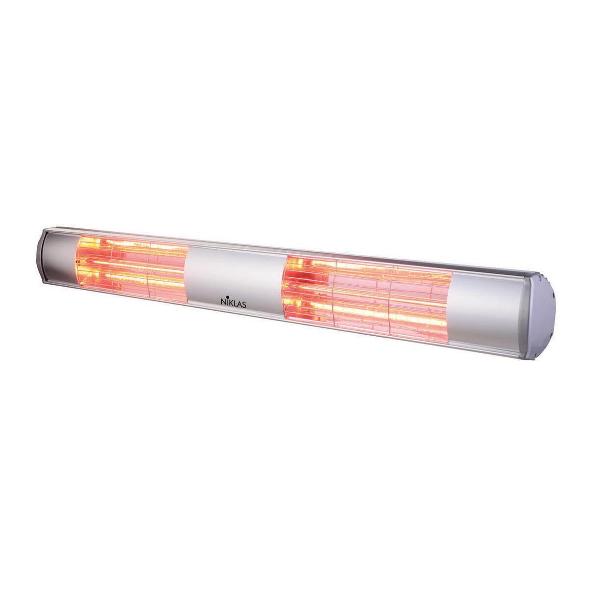 Riscaldamento per esterni NIKLAS Termopatio infrarossi grigio / argento 3000 W