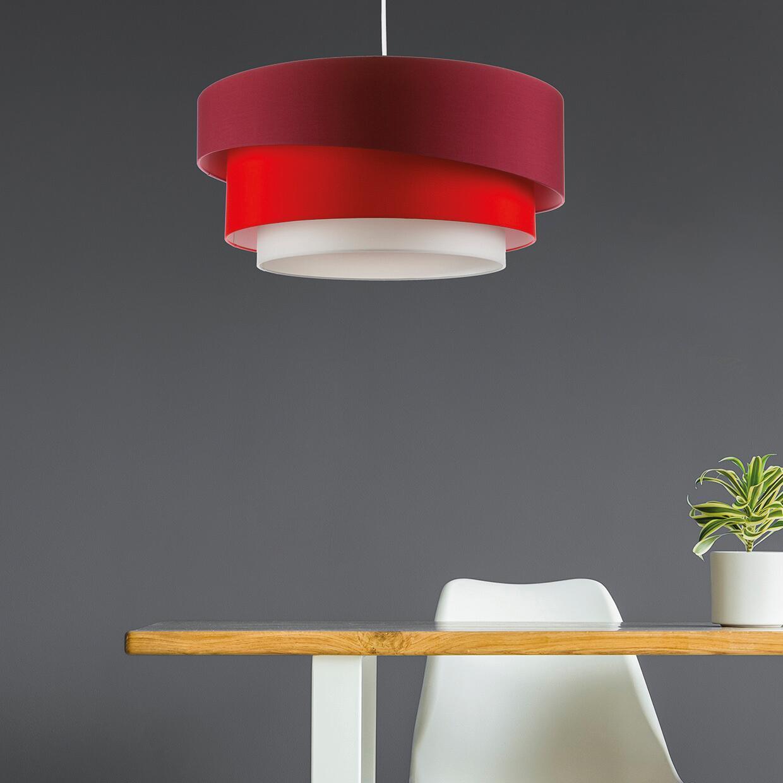 Lampadario Moderno Triplo bianco, rosso , D. 60 cm - 2