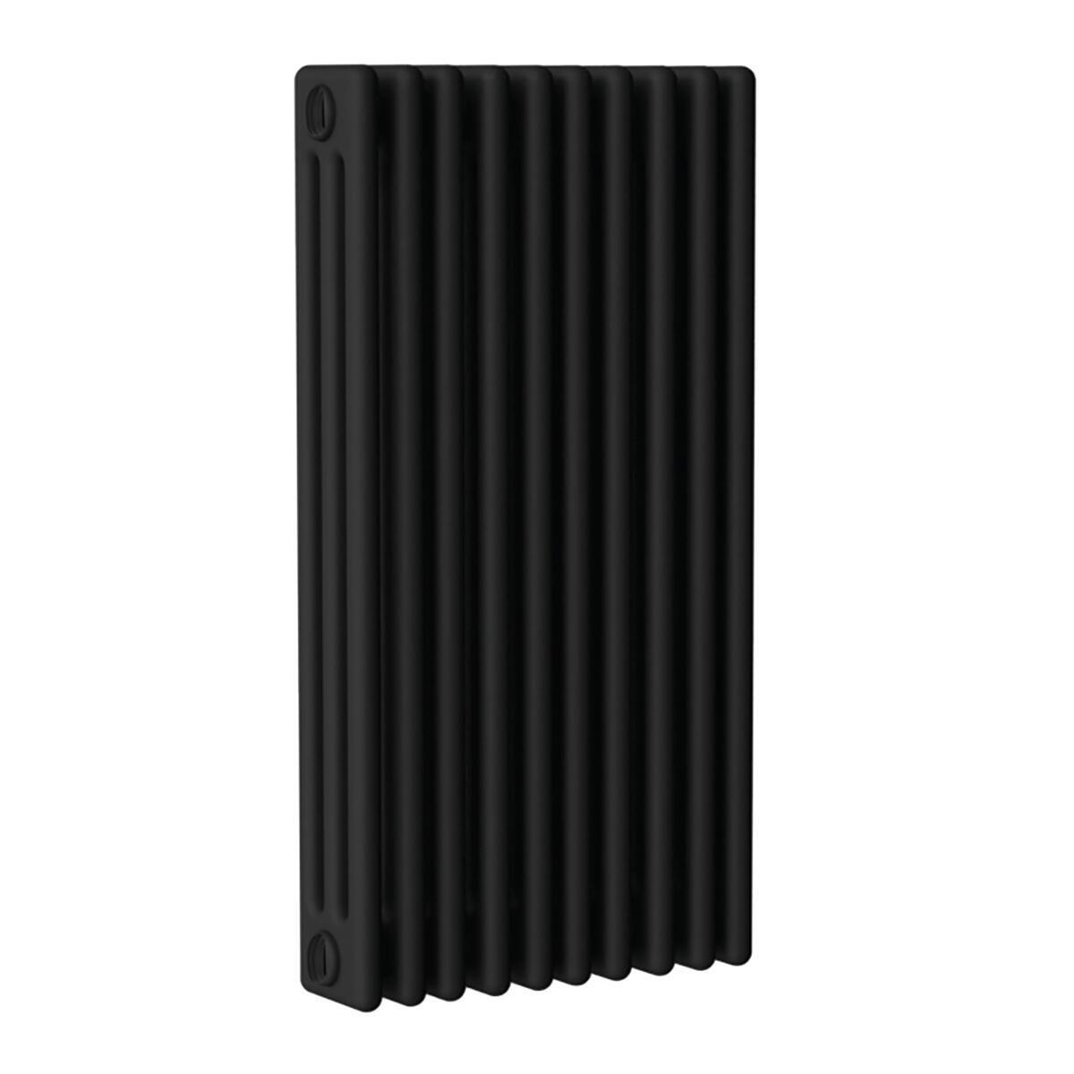 Radiatore acqua calda ERCOS nero opaco in acciaio 10 elementi interasse 62,3 cm