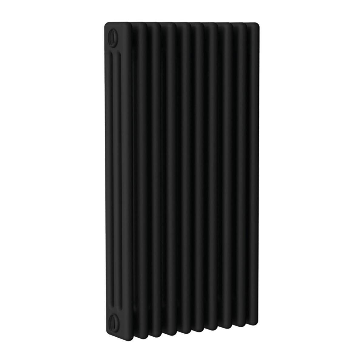 Radiatore acqua calda ERCOS nero opaco satinato in acciaio 10 elementi interasse 53,5 cm