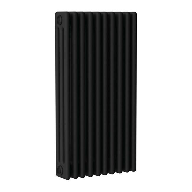 Radiatore acqua calda ERCOS nero opaco satinato in acciaio 10 elementi interasse 53,5 cm - 1
