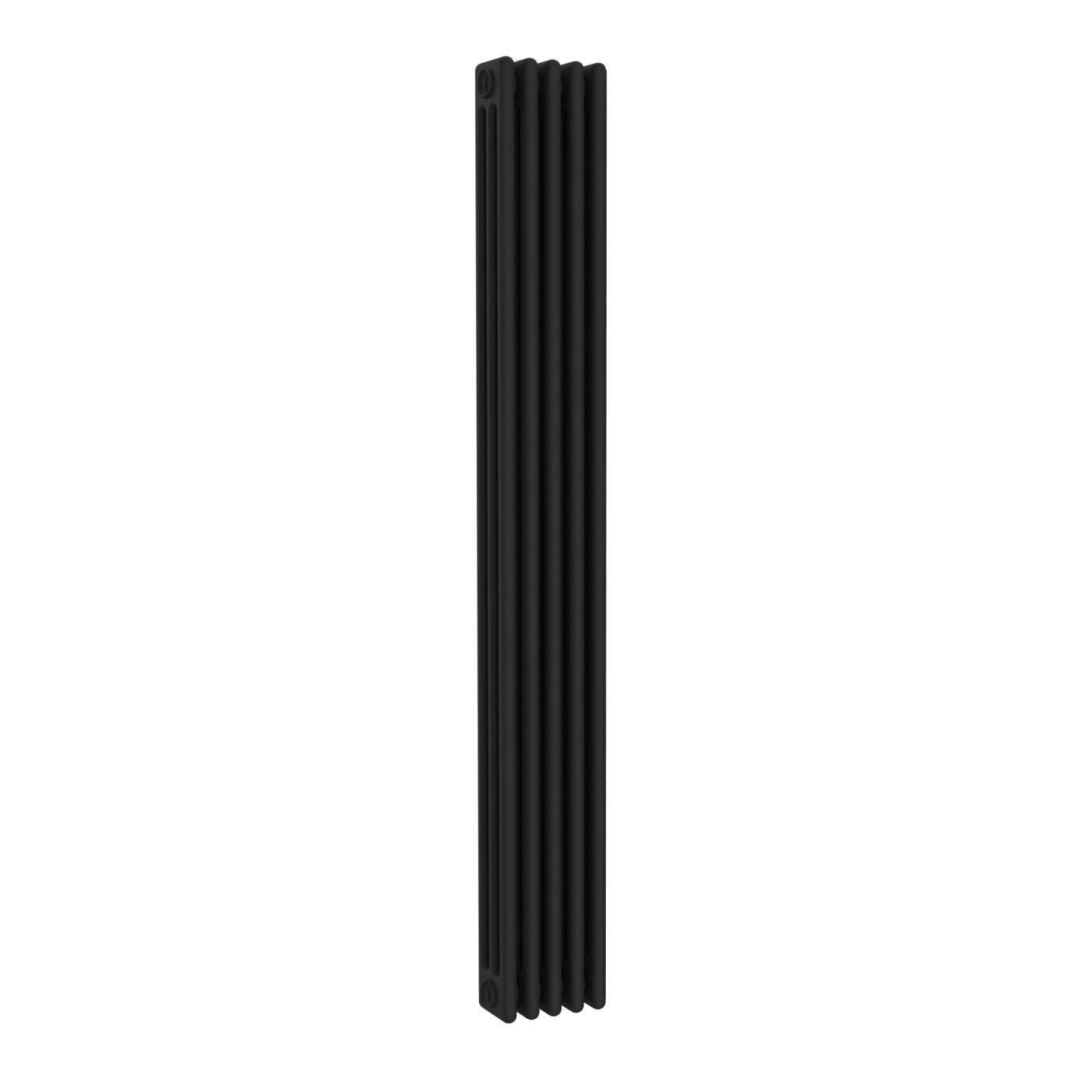 Radiatore acqua calda ERCOS nero opaco in acciaio 5 elementi interasse 193,5 cm