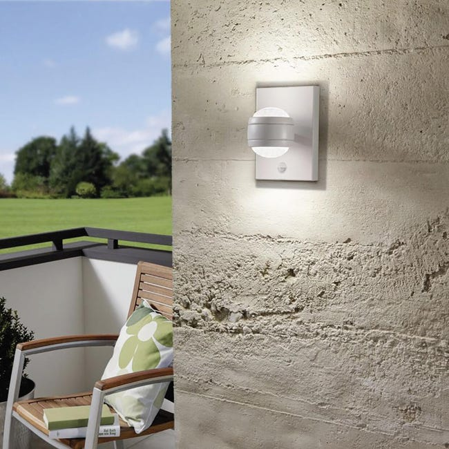 Applique Sesimba LED integrato in inox, bianco, 3.7W 560LM IP44 EGLO - 1
