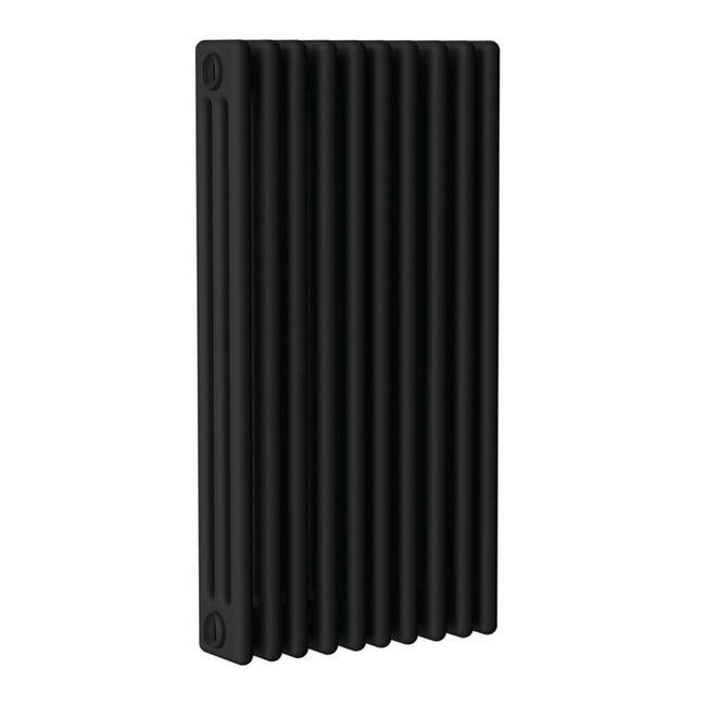 Radiatore acqua calda ERCOS nero opaco in acciaio 10 elementi interasse 81,3 cm - 1