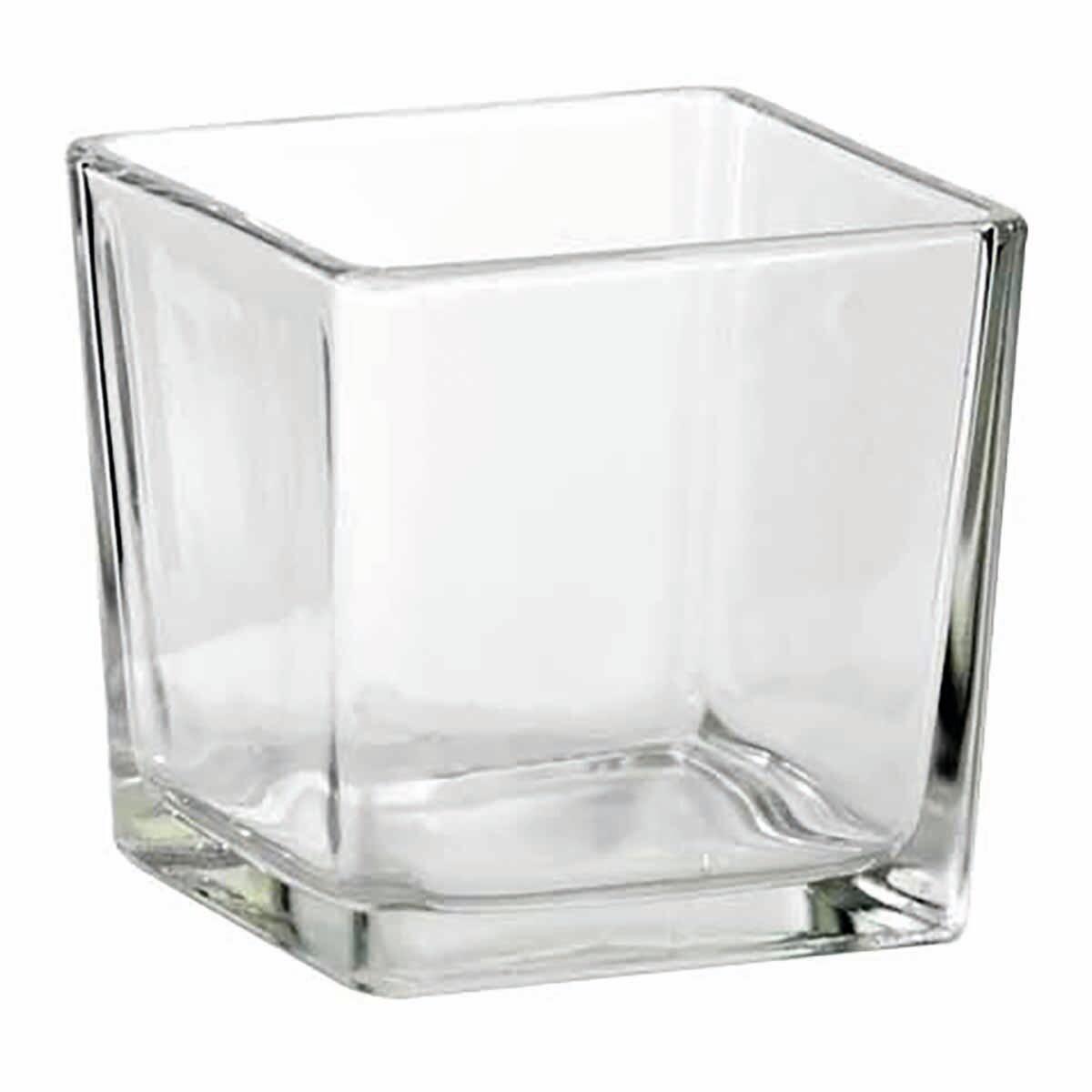 Vaso in vetro L 8 x H 8 cm