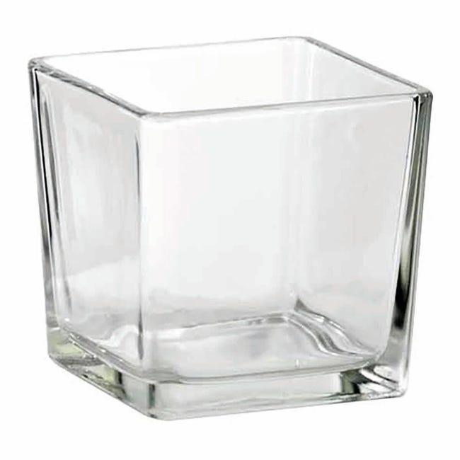 Vaso in vetro L 8 x H 8 cm - 1