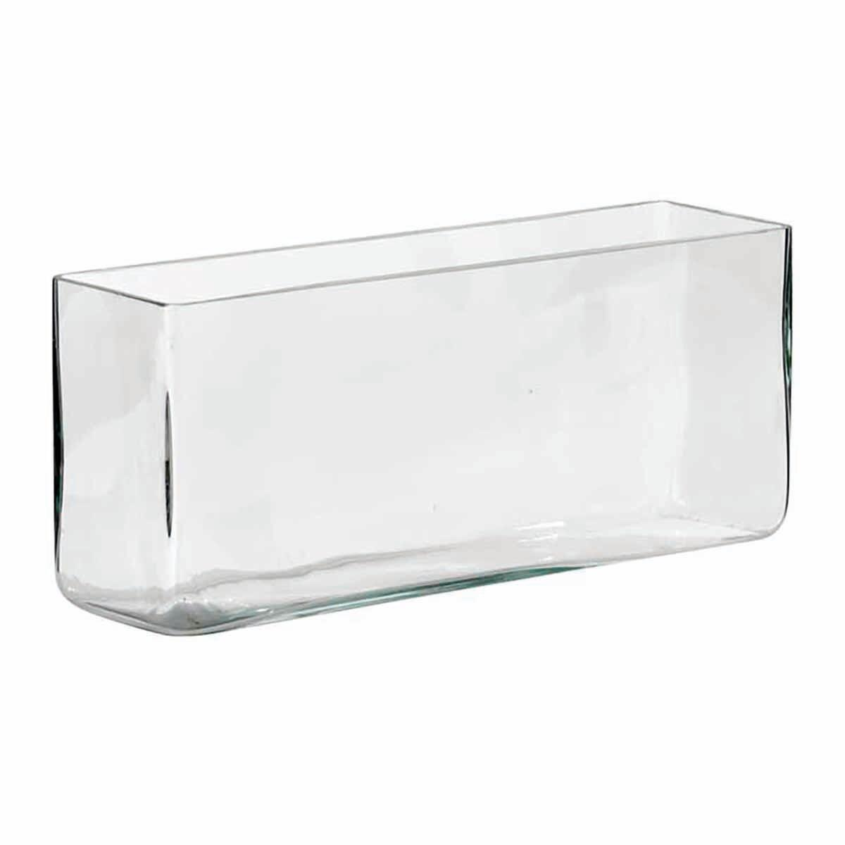 Vaso in vetro L 30 x H 30 cm