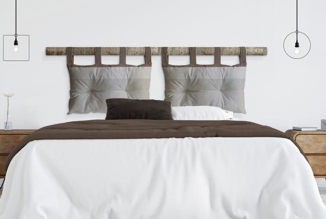 Cuscino testata letto RIGONE ecru 45x70 cm - 1