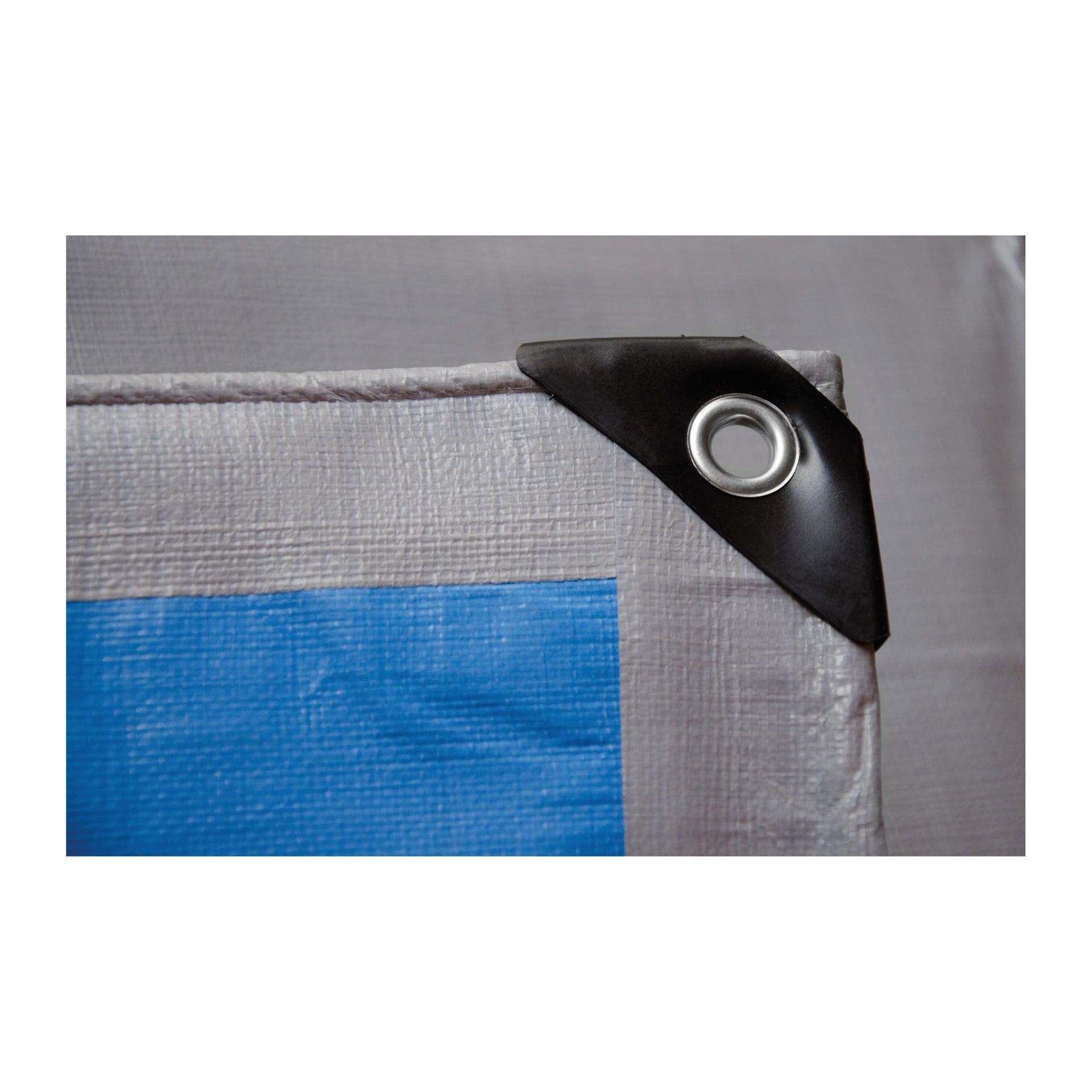 Telo protettivo in polietilene occhiellato L 5 m x H 400 cm 250 g/m² - 2