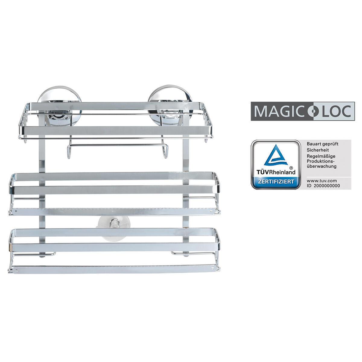 Porta rotolo carta assorbente Magic-Loc in metallo L 26 x P 33 x H 32 cm - 4