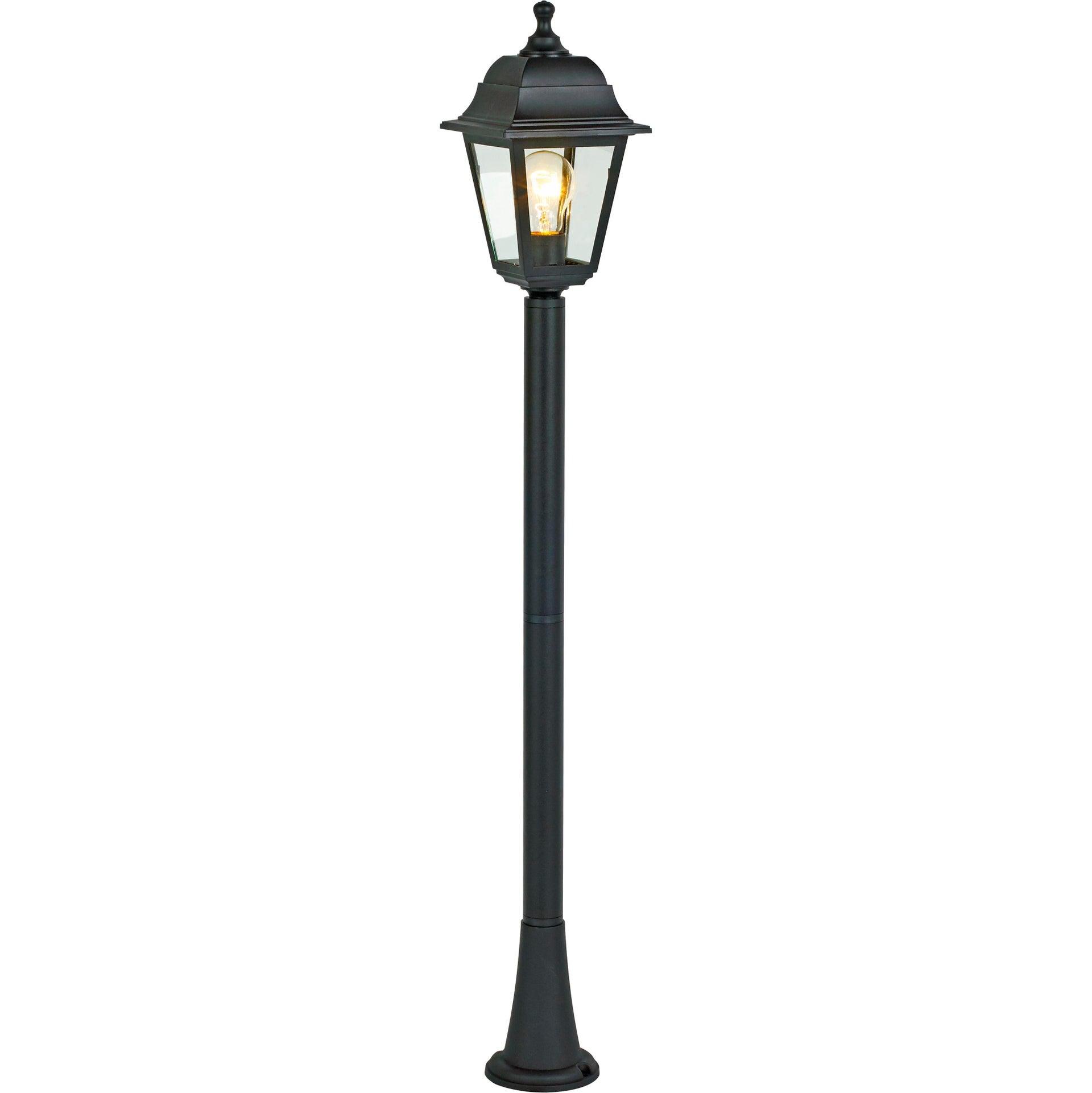Lampione senza fonte luminosa Sima H15.4 cm in plastica, nero, E27 1x MAX 60W IP44 - 4