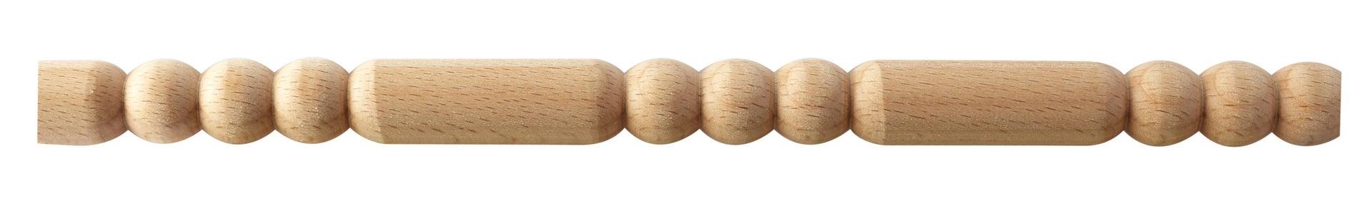 Asta rettangolare in faggio grezzo 1000 x 10.5 x 52.5 mm 5 pezzi - 2