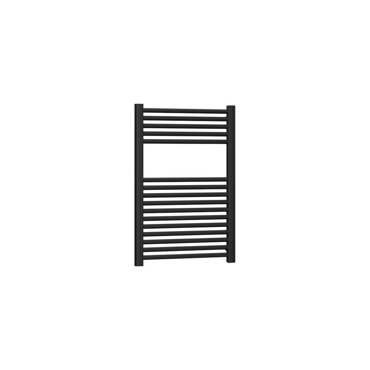 Termoarredo nero opaco interasse 55 cm x H 77 cm