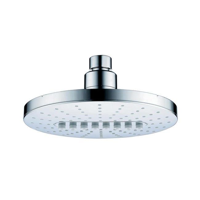 Soffione doccia Agave in abs argento e bianco cromato - 1