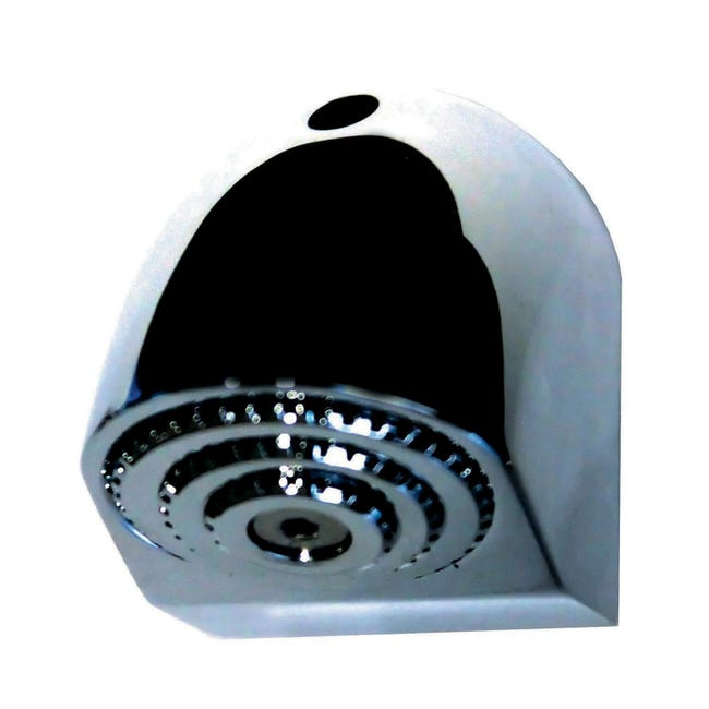 Soffione doccia Antivandalo in ottone argento cromato - 1