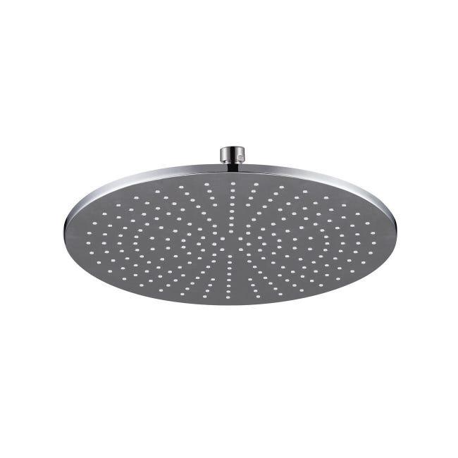 Soffione doccia Orlando in ottone argento cromato - 1