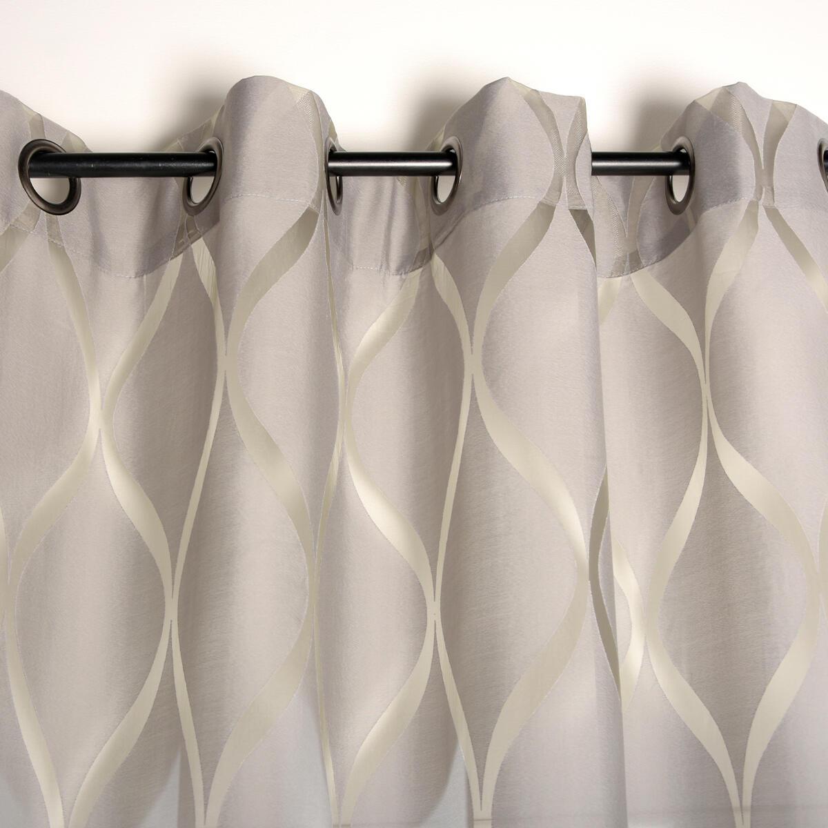 Tenda Arlequin grigio occhielli 140 x 280 cm - 3
