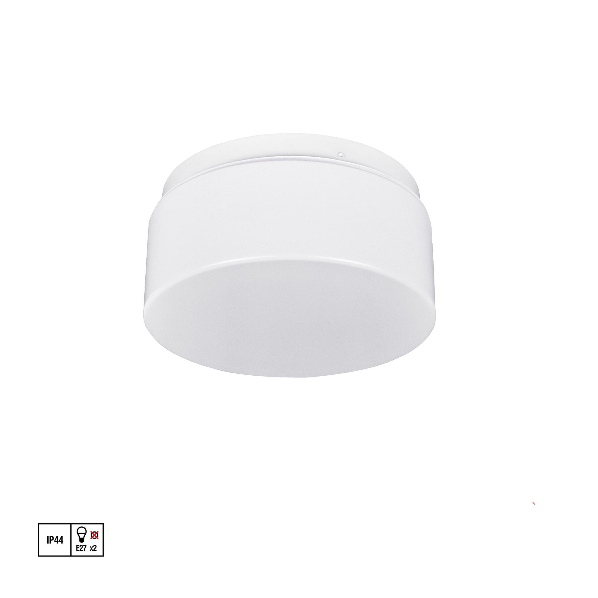 Plafoniera Plafoniera bianco D. 25 cm 25x25 cm, - 2
