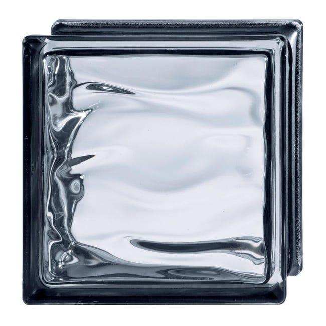 Vetromattone BORMIOLI nero lucido H 19 x L 19 x Sp 8 cm - 1