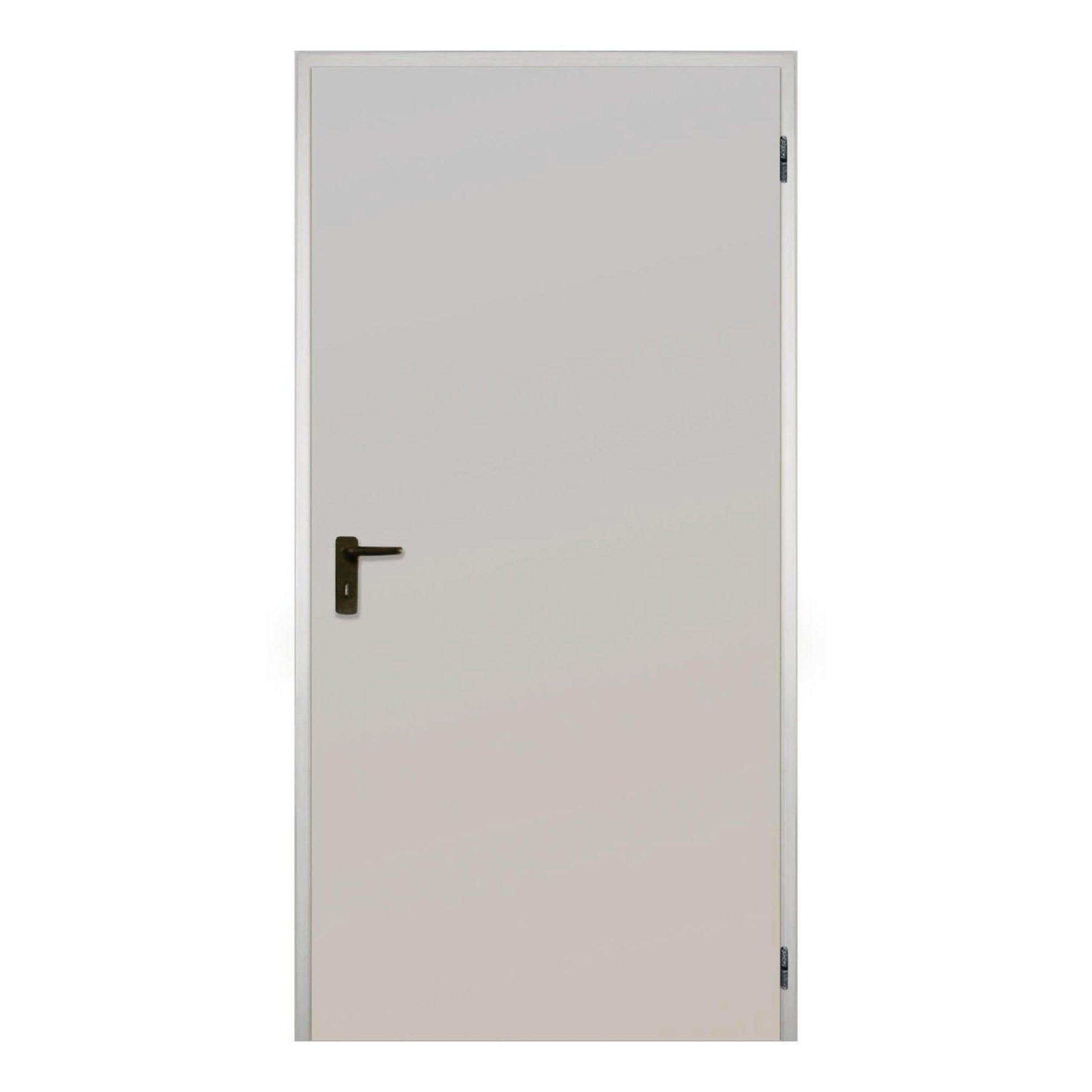 Porta per cantina tamburata zincata L 100 x H 215 cm