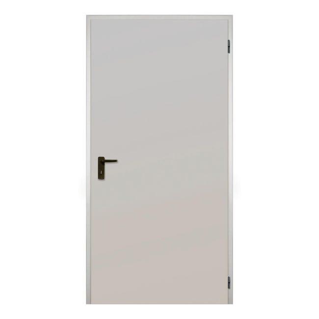 Porta per cantina tamburata zincata L 100 x H 215 cm - 1
