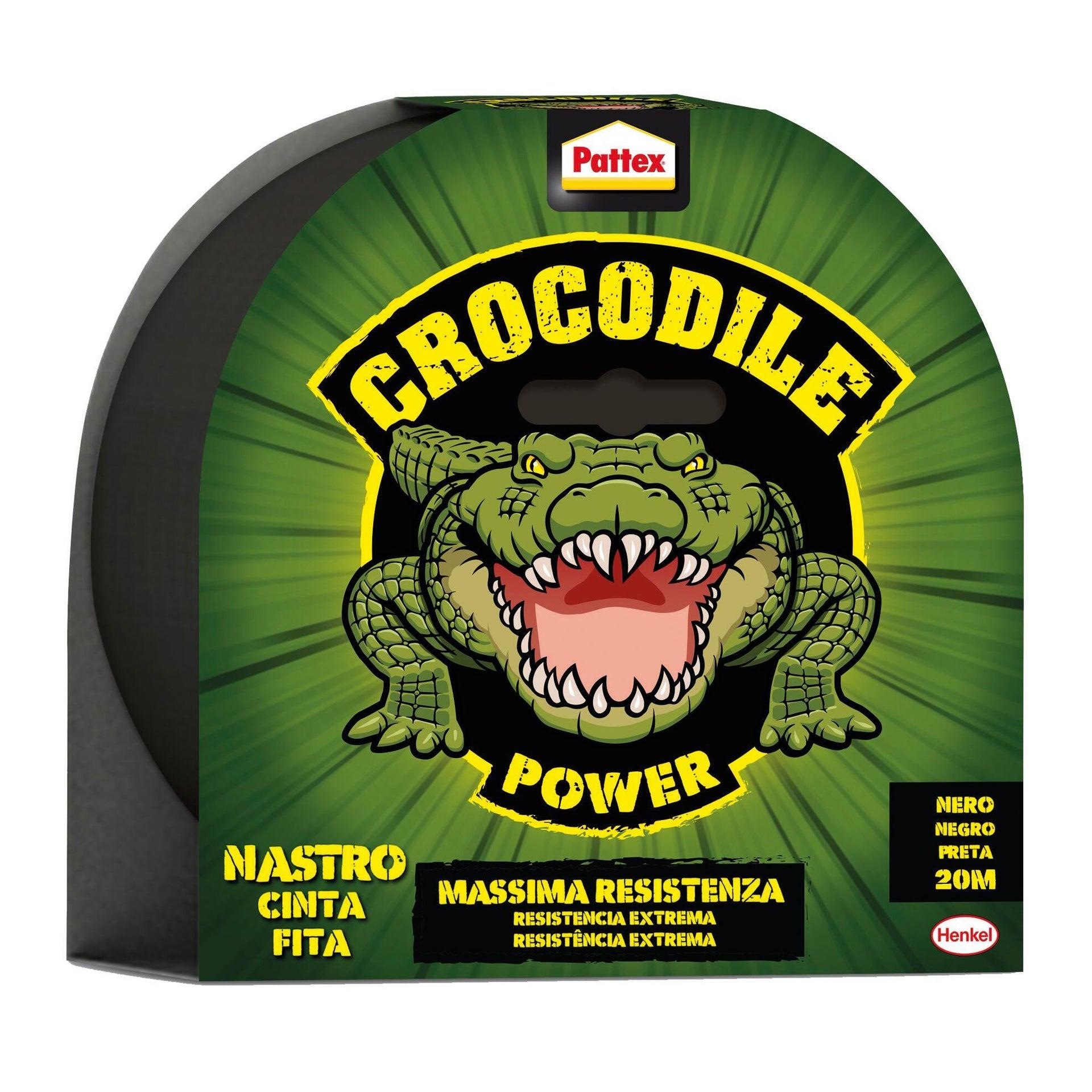 Nastro adesivo PATTEX PATTEX Crocodile Tape Nero 20m 48 mm x 20 m nero - 1