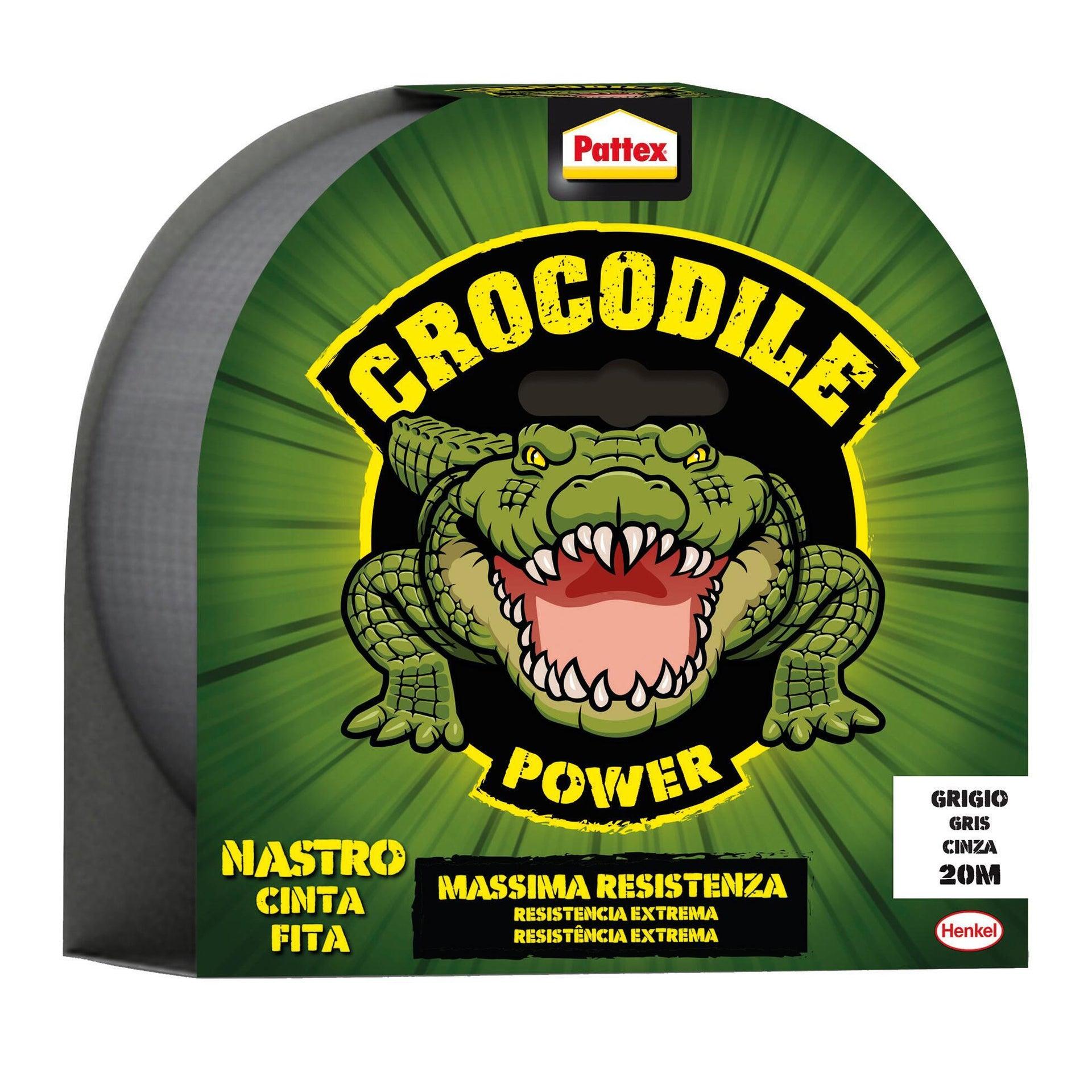 Nastro adesivo PATTEX PATTEX Crocodile Tape Grigio 20m 48 mm x 20 m grigio e argento - 1