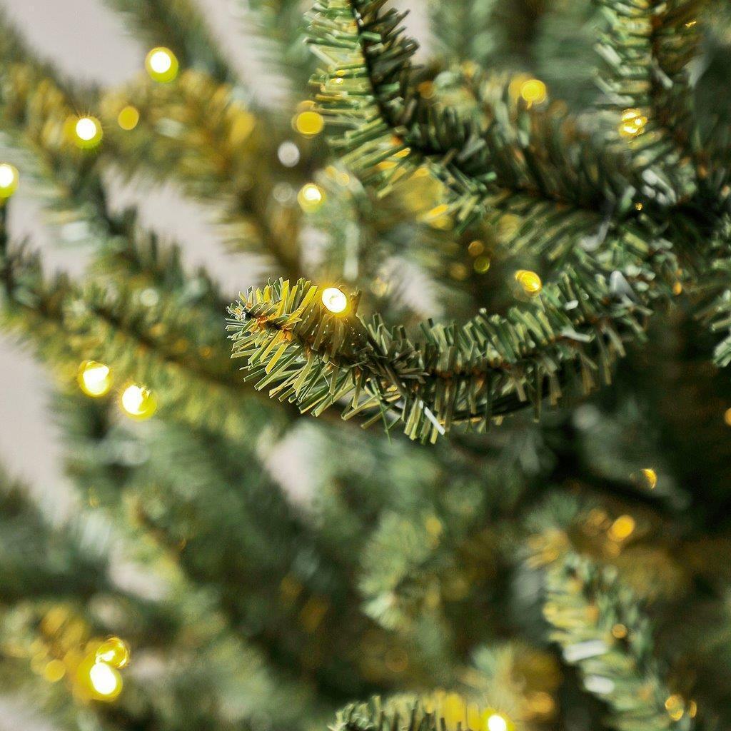 Albero di natale artificiale Bretone verde scuro H 180 cm, 400 lampadine incorporate - 3