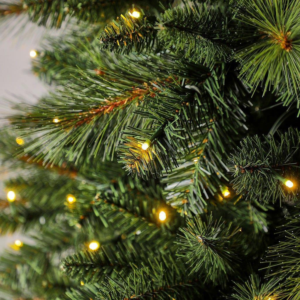 Albero di natale artificiale Mesa verde scuro H 180 cm, 350 lampadine incorporate - 4