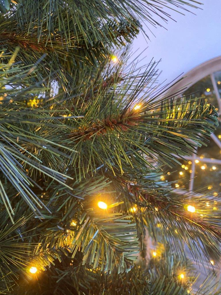 Albero di natale artificiale Mesa verde scuro H 180 cm, 350 lampadine incorporate - 2