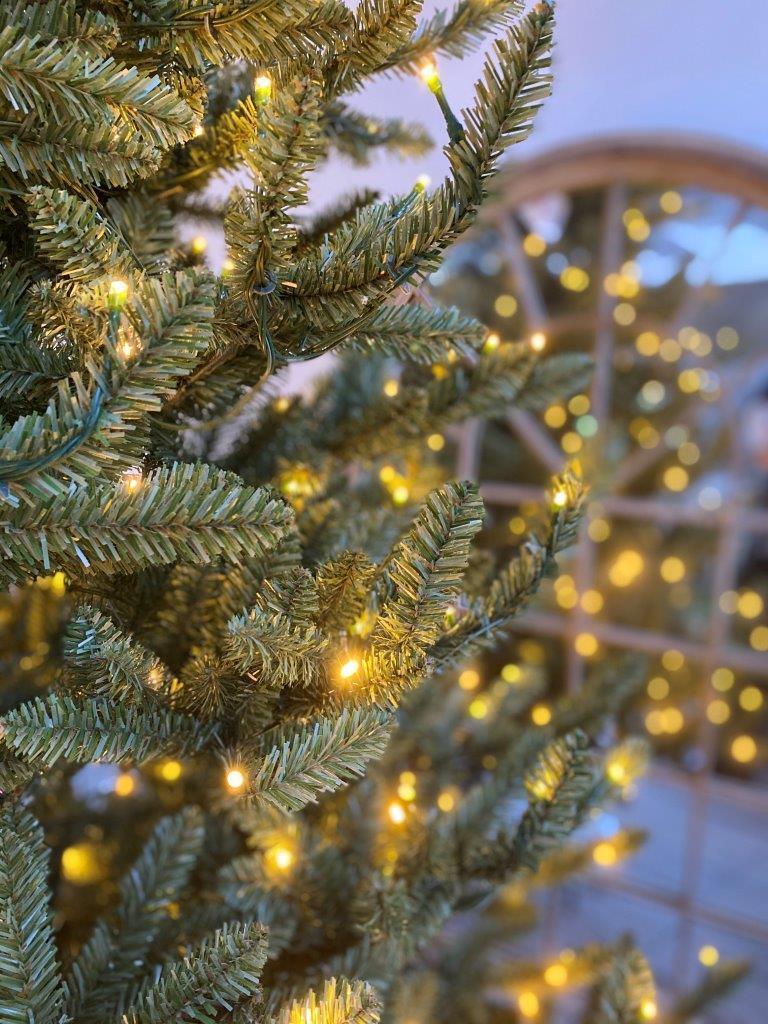 Albero di natale artificiale Bretone verde scuro H 180 cm, 400 lampadine incorporate - 5