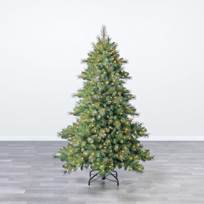 Albero di natale artificiale Mesa verde scuro H 180 cm, 350 lampadine incorporate - 1