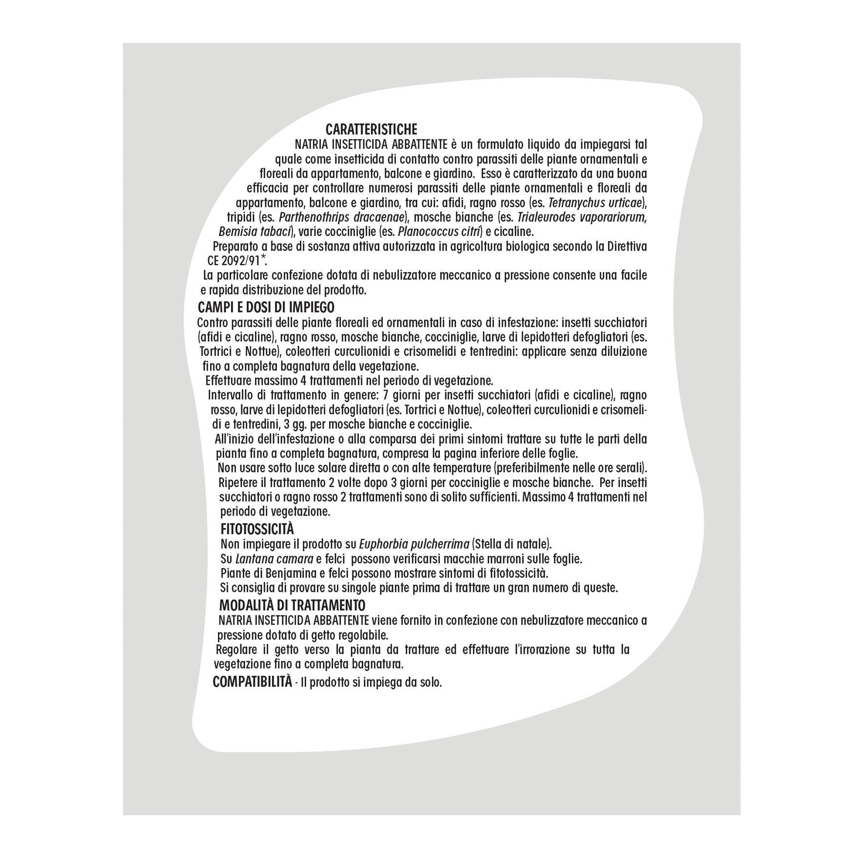 Insetticida SOLABIOL abbattente Natria 1 L - 5
