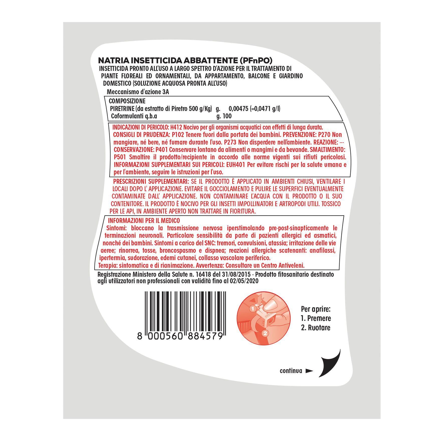 Insetticida SOLABIOL abbattente Natria 1 L - 3