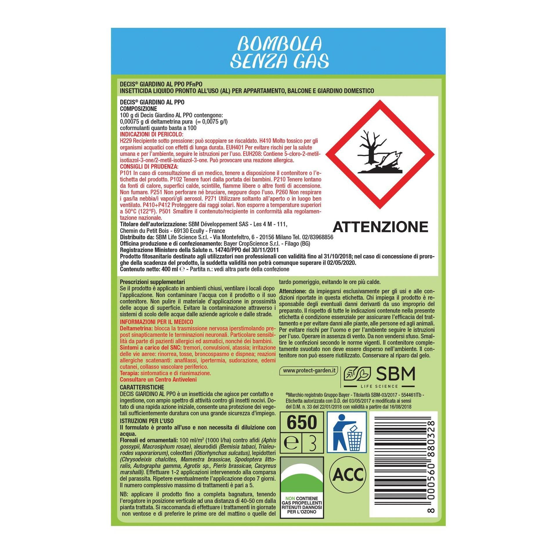 Insetticida PROTECT GARDEN universale Decis 400 ml - 3