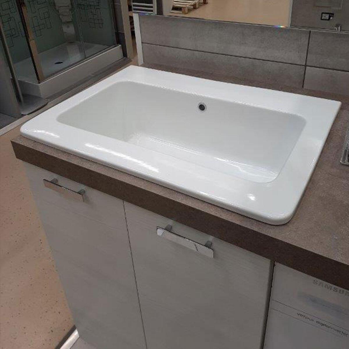 Lavabo Pilozzo Rettangolare Ceramica 70 X 60 Al Miglior Prezzo Leroy Merlin