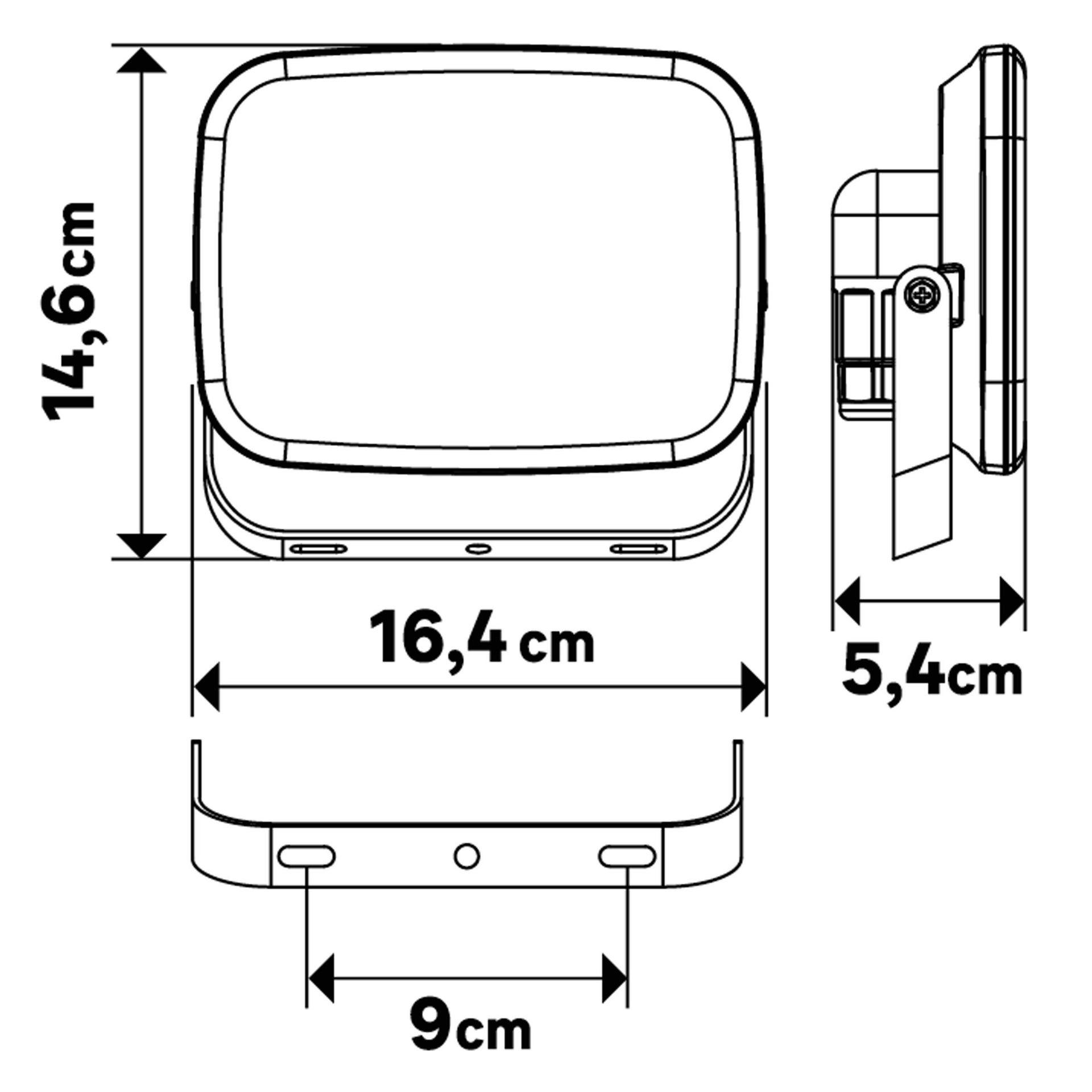 Proiettore LED integrato Kanti in alluminio, bianco, 30W 2000LM IP65 INSPIRE - 4