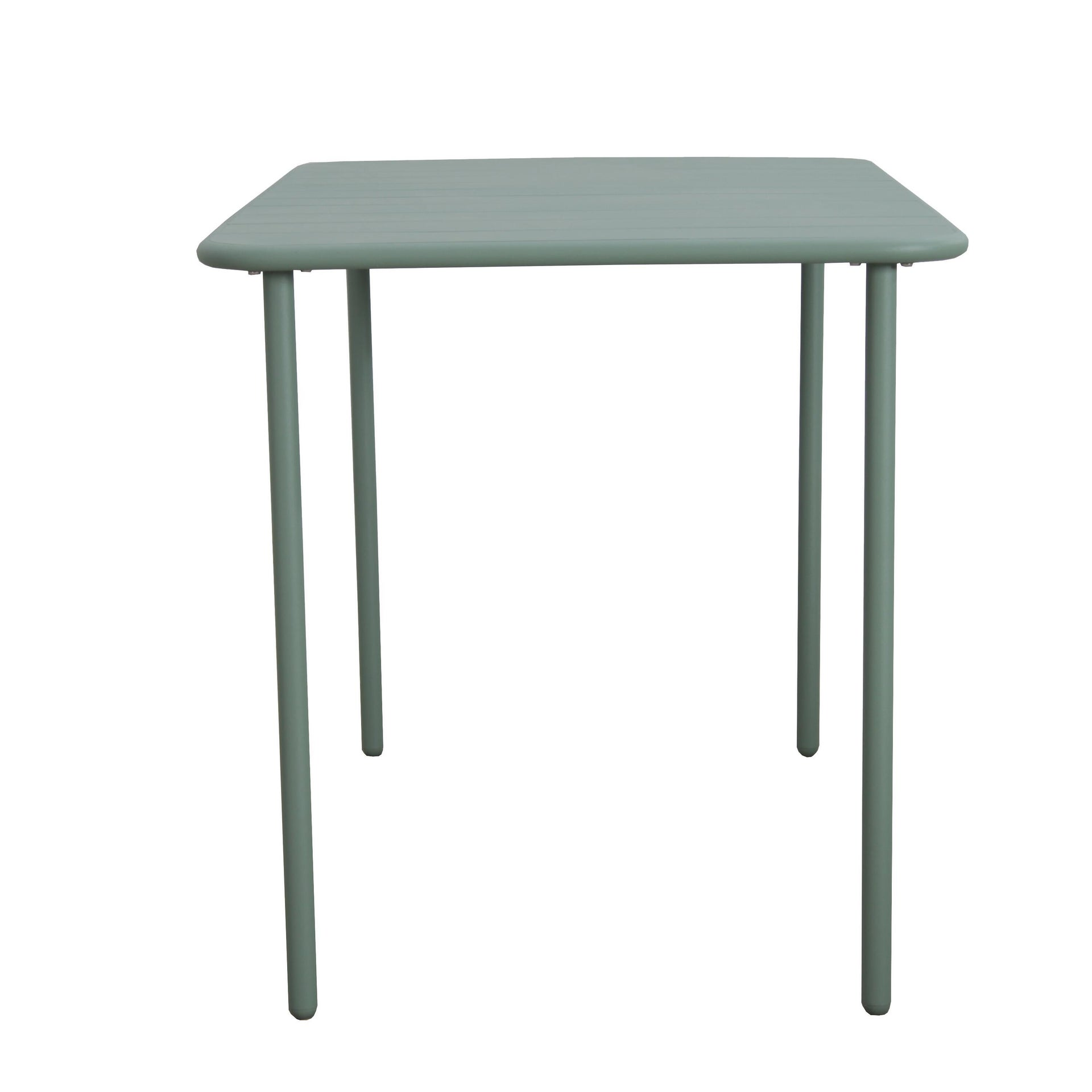 Tavolo da giardino rettangolare Cafe con piano in metallo L 70 x P 120 cm - 10