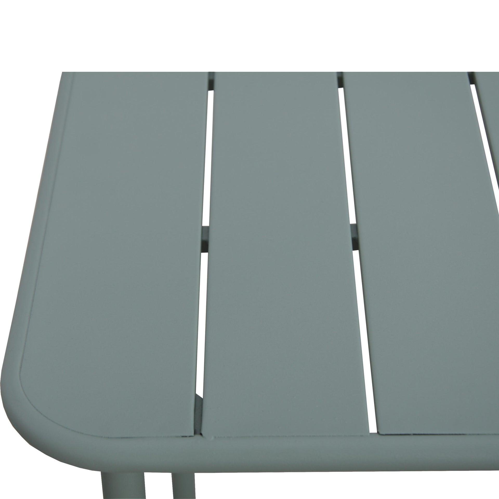 Tavolo da giardino rettangolare Cafe con piano in metallo L 70 x P 120 cm - 4