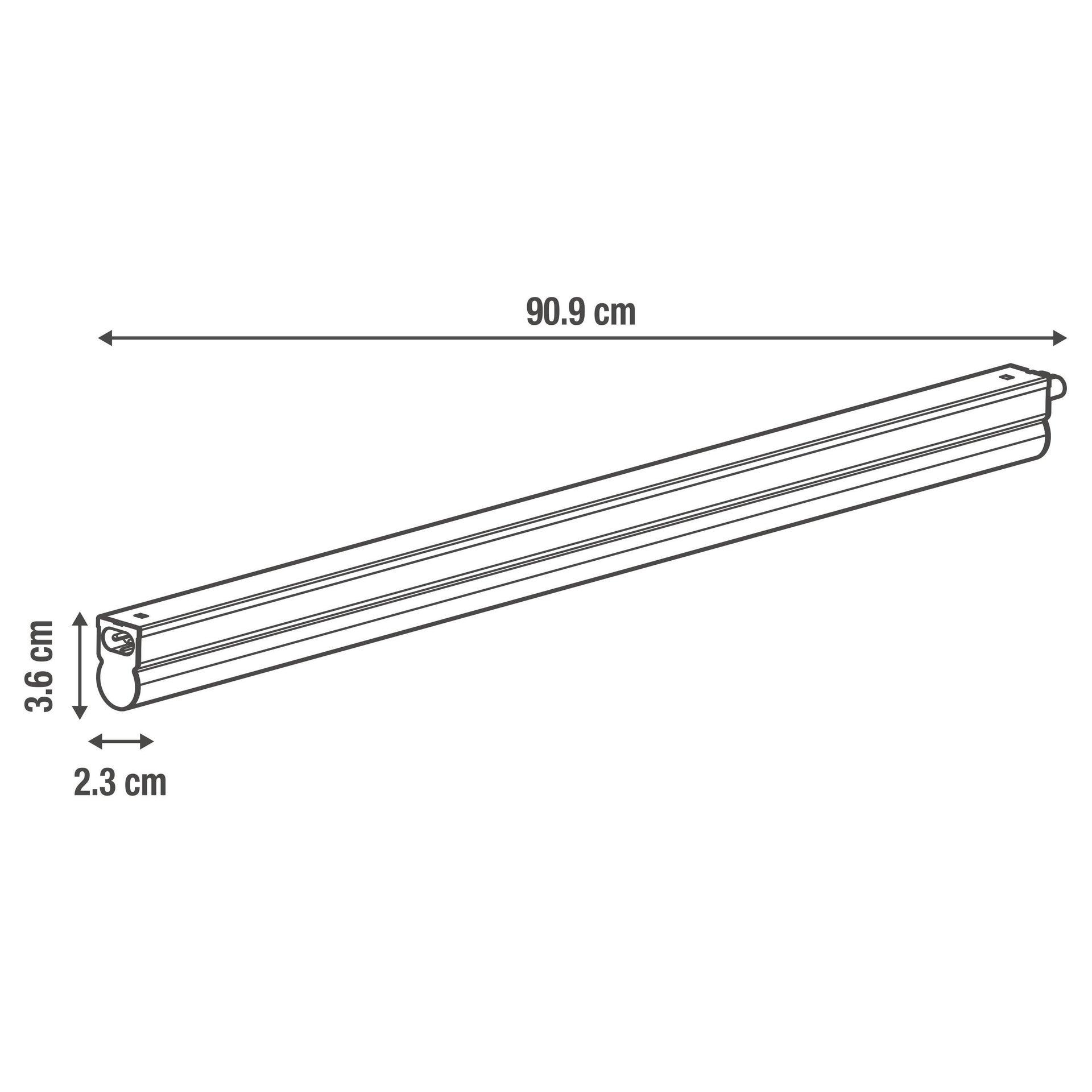 Reglette Moss LED integrato 90.9 cm 11W 1250LM IP20 Inspire - 3