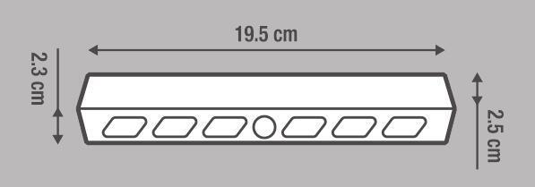 Illuminazione mobili LED integrato Merida 50 LM IP20 Inspire - 10