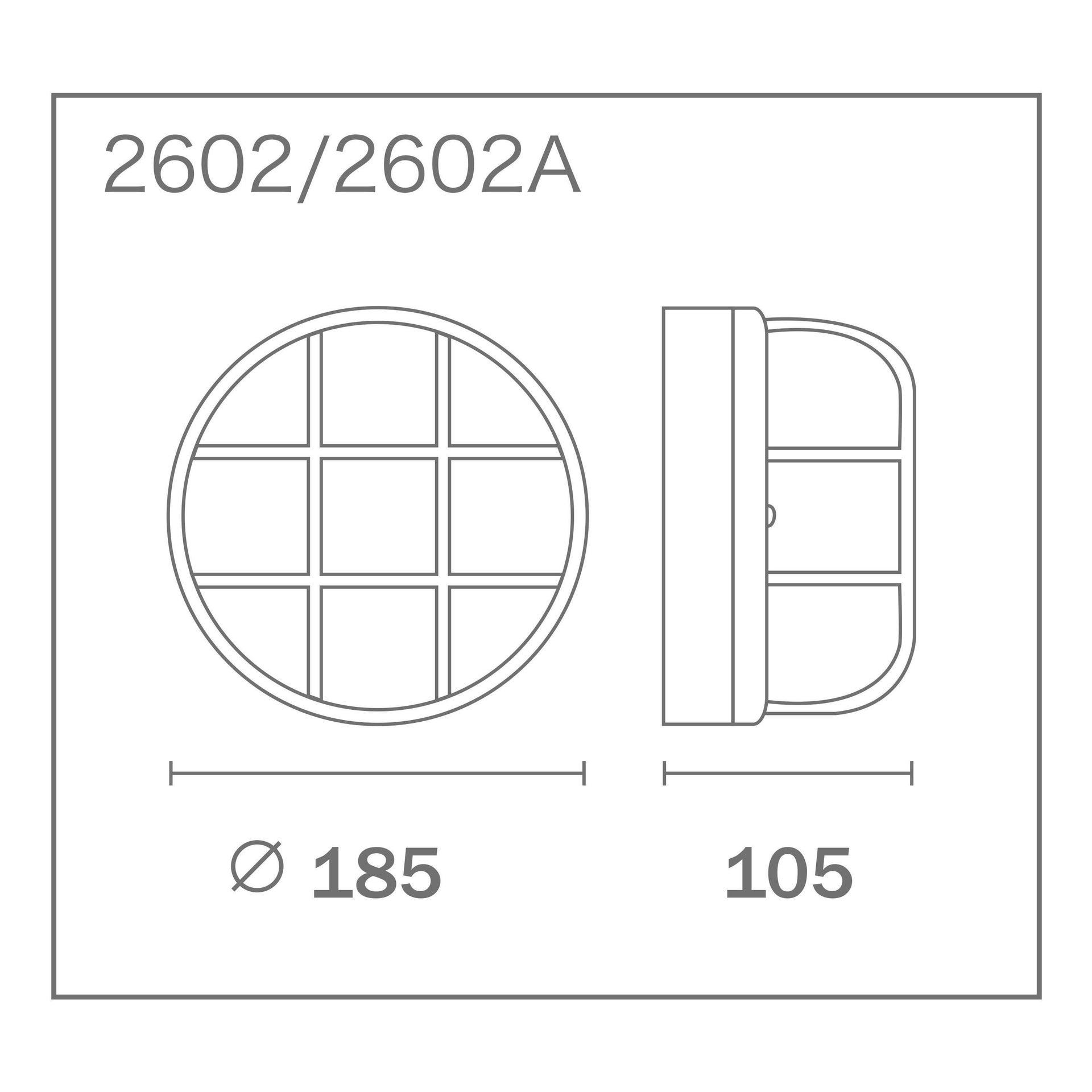 Applique Tondanero, E27 MAX60W IP44 - 3