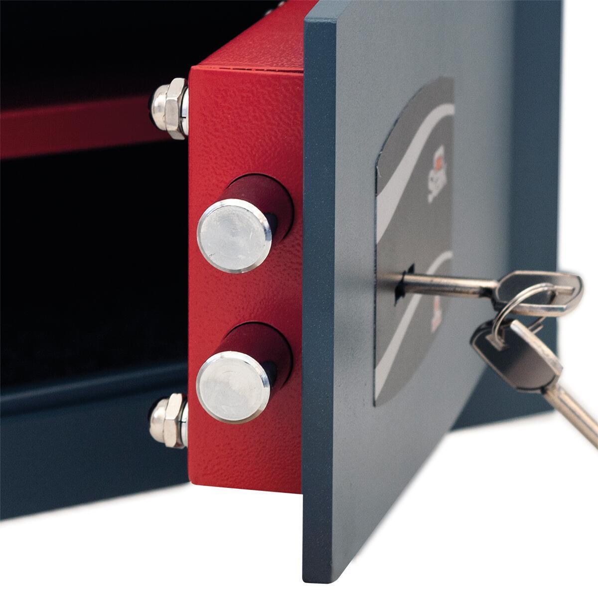 Cassaforte a chiave STARK 800A da murare L26 x P15 x H18 cm - 6