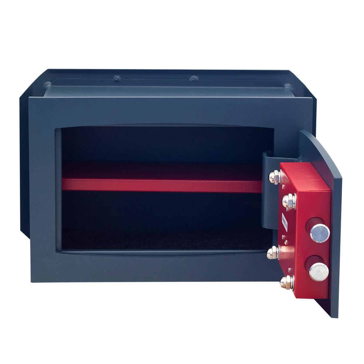 Cassaforte a chiave STARK 800A da murare L26 x P15 x H18 cm - 3