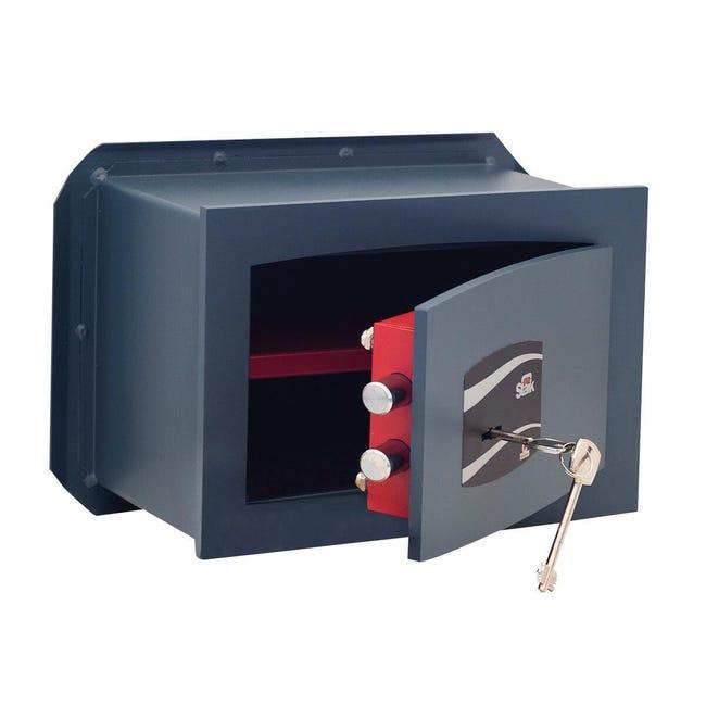 Cassaforte a chiave STARK 800A da murare L26 x P15 x H18 cm - 1