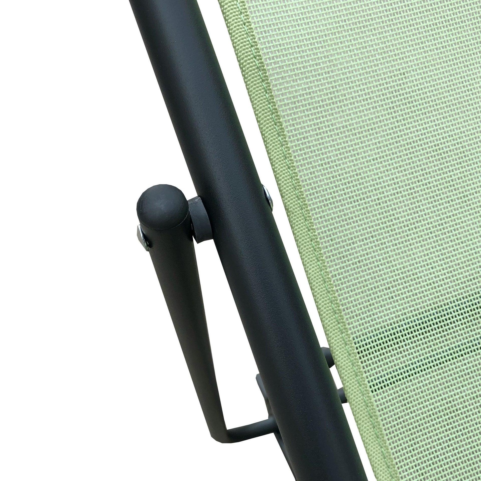 Sedia da giardino senza cuscino pieghevole in acciaio Biganos colore verde - 6