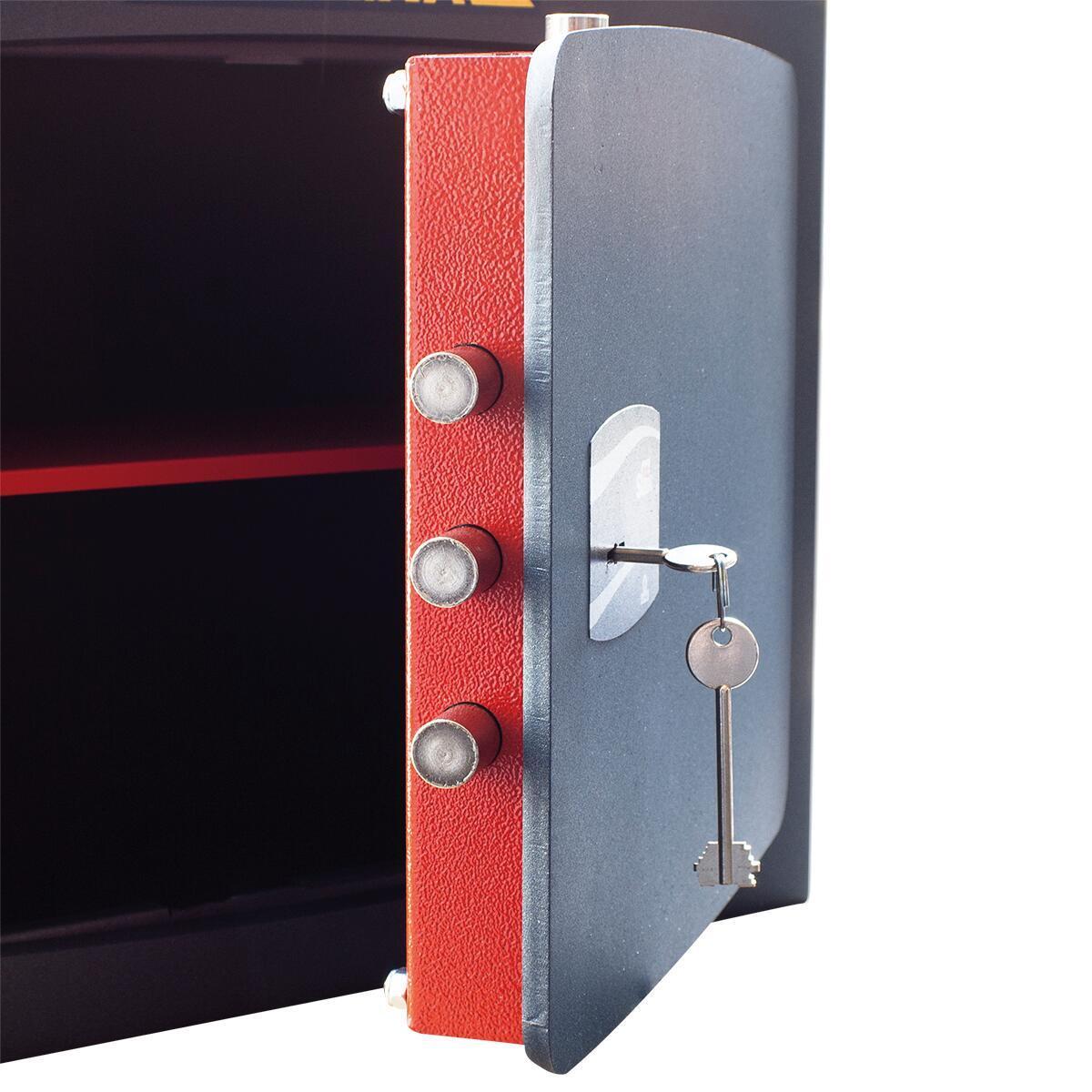 Cassaforte a chiave STARK 1205P da murare L32 x P24 x H49 cm - 6