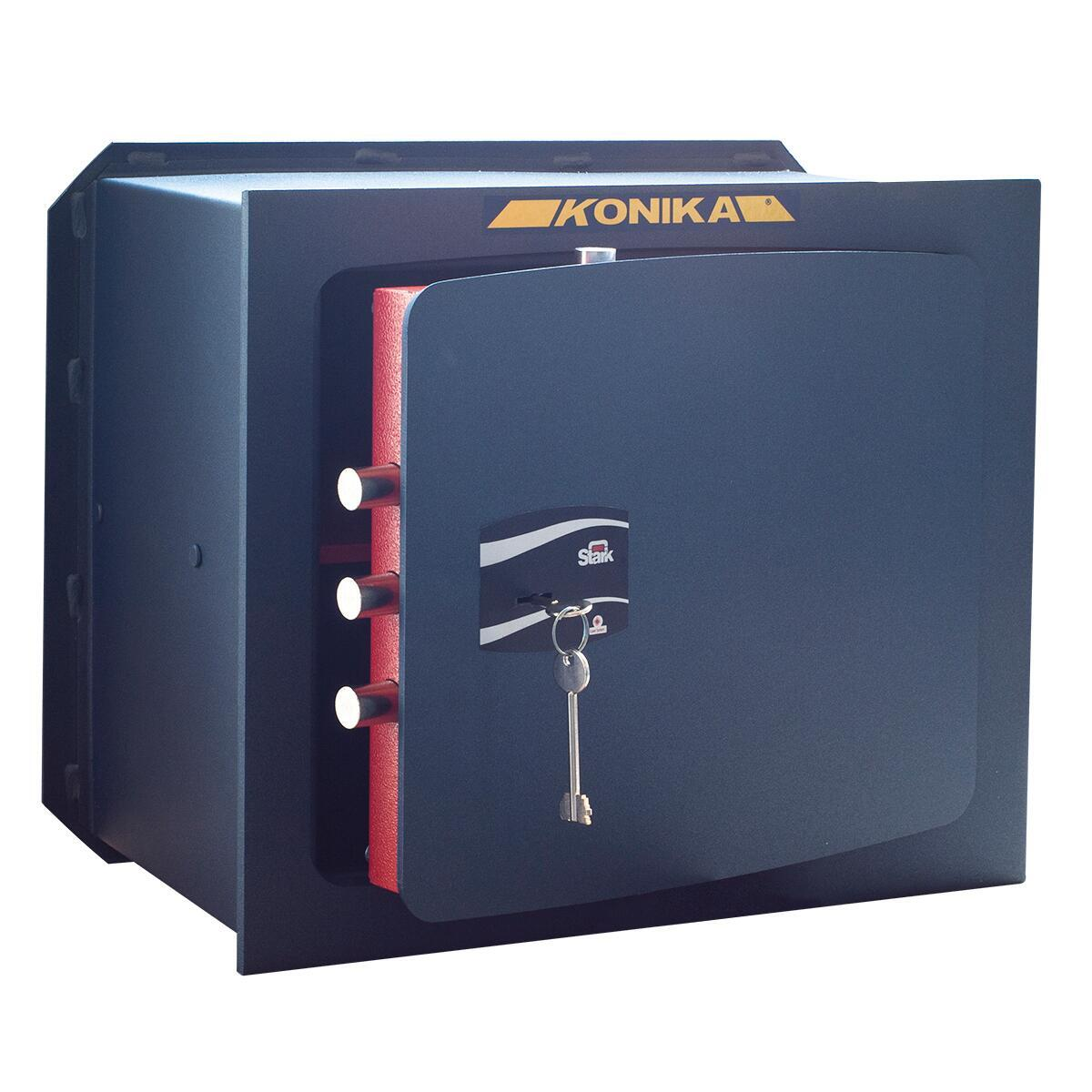 Cassaforte a chiave STARK 1205P da murare L32 x P24 x H49 cm - 1